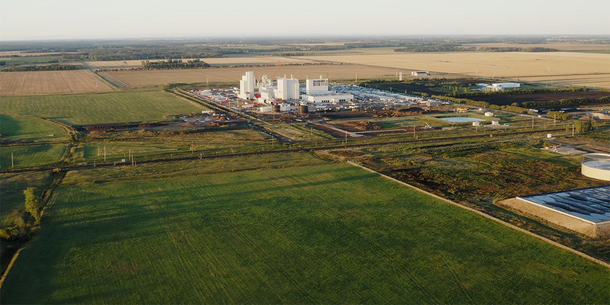 Roquette's pea-protein facility in Portage-la-Prairie, MB